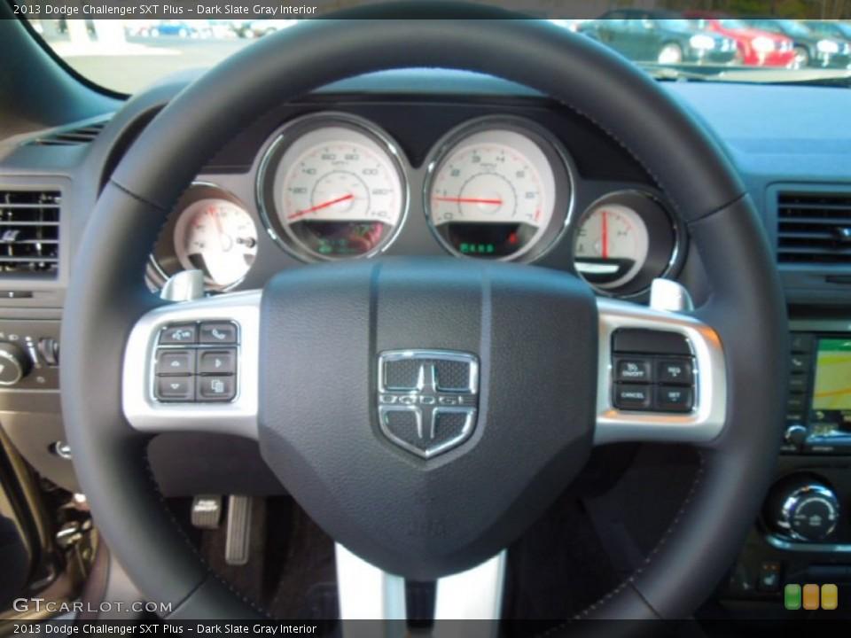 Dark Slate Gray Interior Steering Wheel for the 2013 Dodge Challenger SXT Plus #76424856