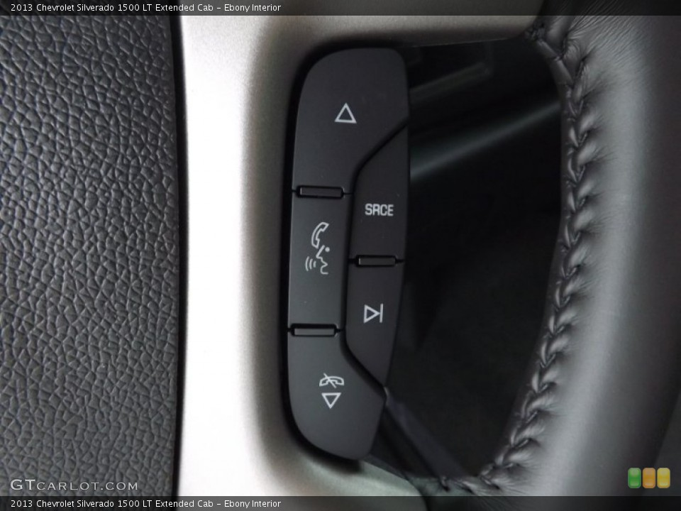 Ebony Interior Controls for the 2013 Chevrolet Silverado 1500 LT Extended Cab #76508556
