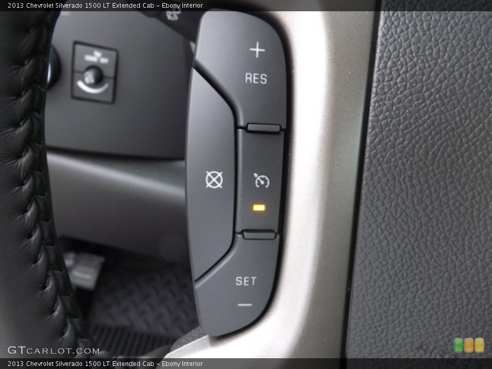 Ebony Interior Controls for the 2013 Chevrolet Silverado 1500 LT Extended Cab #76508576