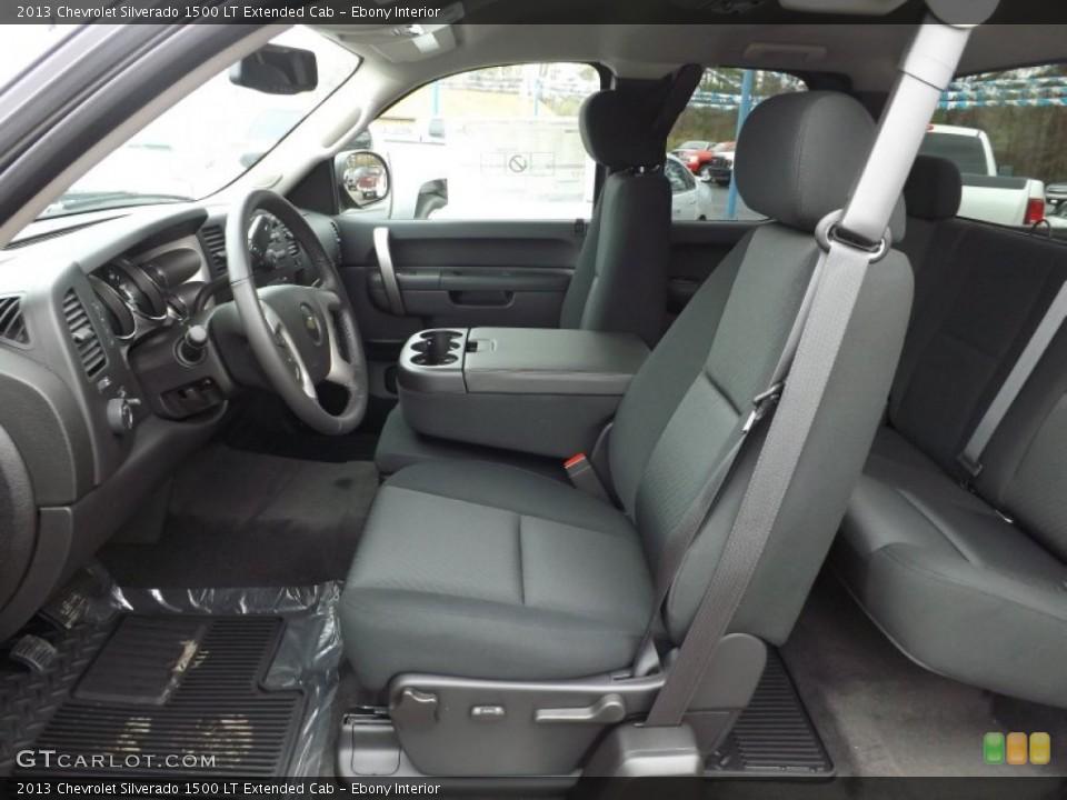 Ebony Interior Photo for the 2013 Chevrolet Silverado 1500 LT Extended Cab #76508722