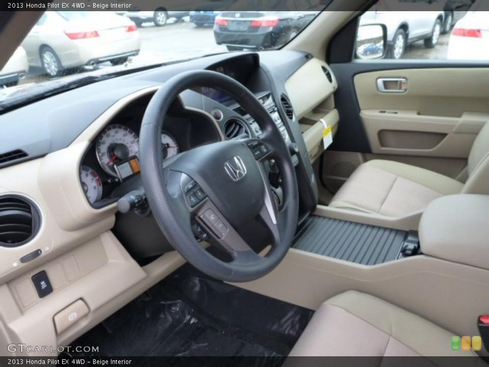 Beige Interior Dashboard for the 2013 Honda Pilot EX 4WD #76557521