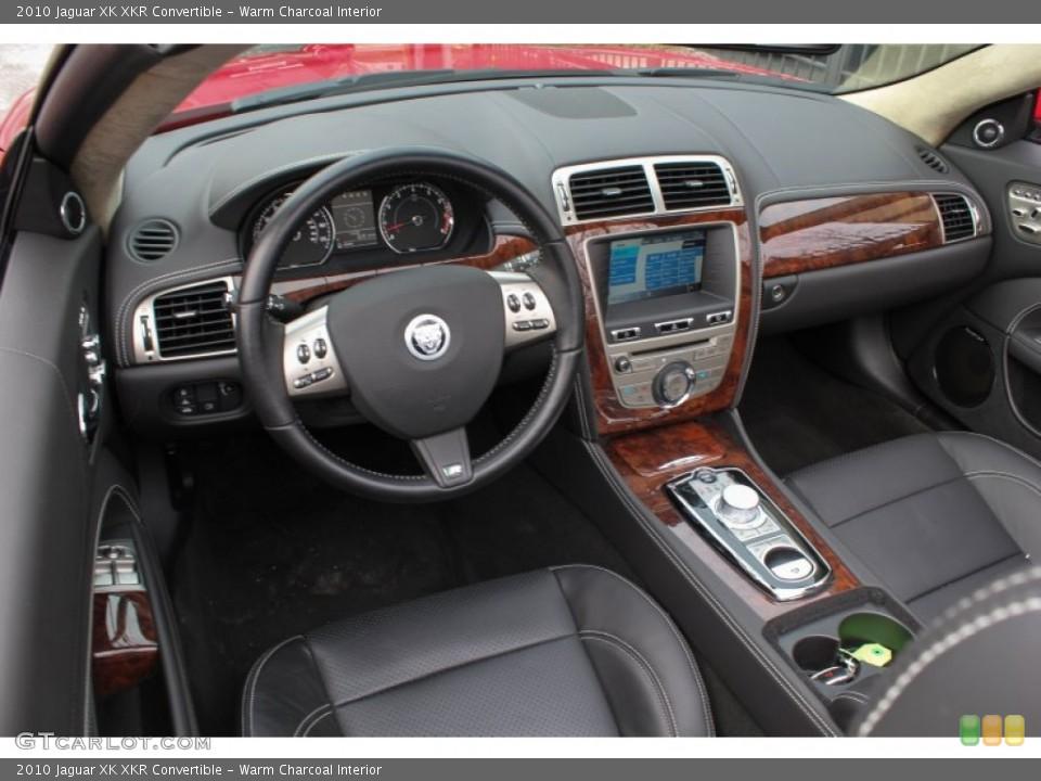 Warm Charcoal Interior Prime Interior for the 2010 Jaguar XK XKR Convertible #76567308