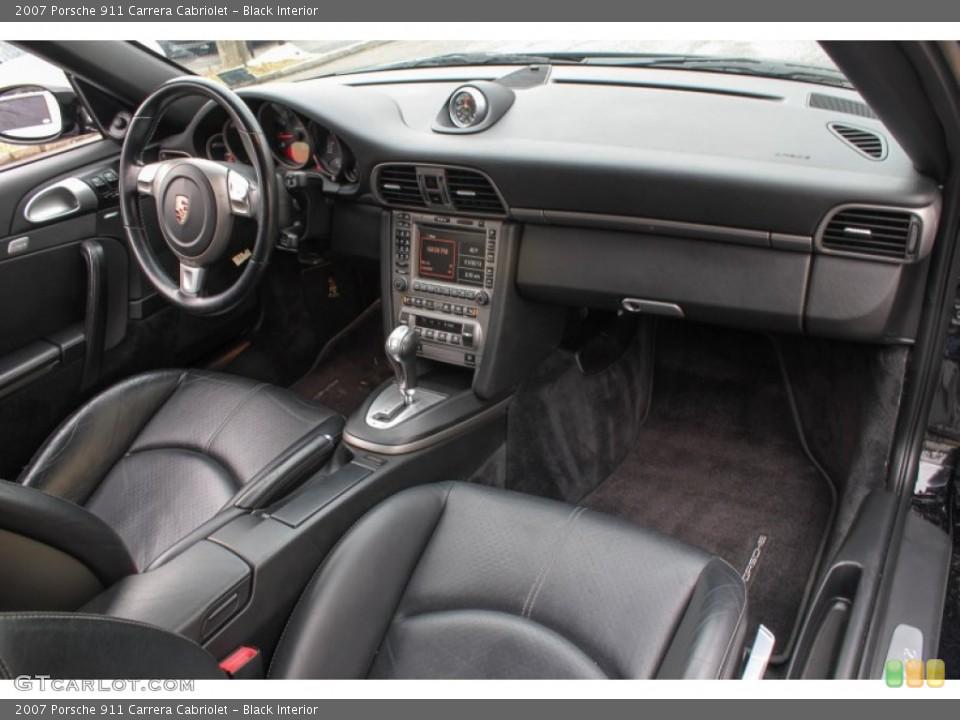 Black Interior Dashboard for the 2007 Porsche 911 Carrera Cabriolet #76567715