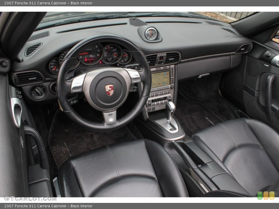 Black Interior Prime Interior for the 2007 Porsche 911 Carrera Cabriolet #76567933