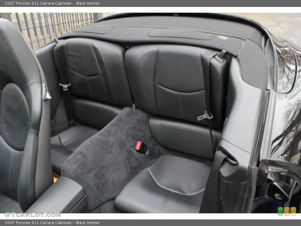 Black Interior Rear Seat for the 2007 Porsche 911 Carrera Cabriolet #76567955