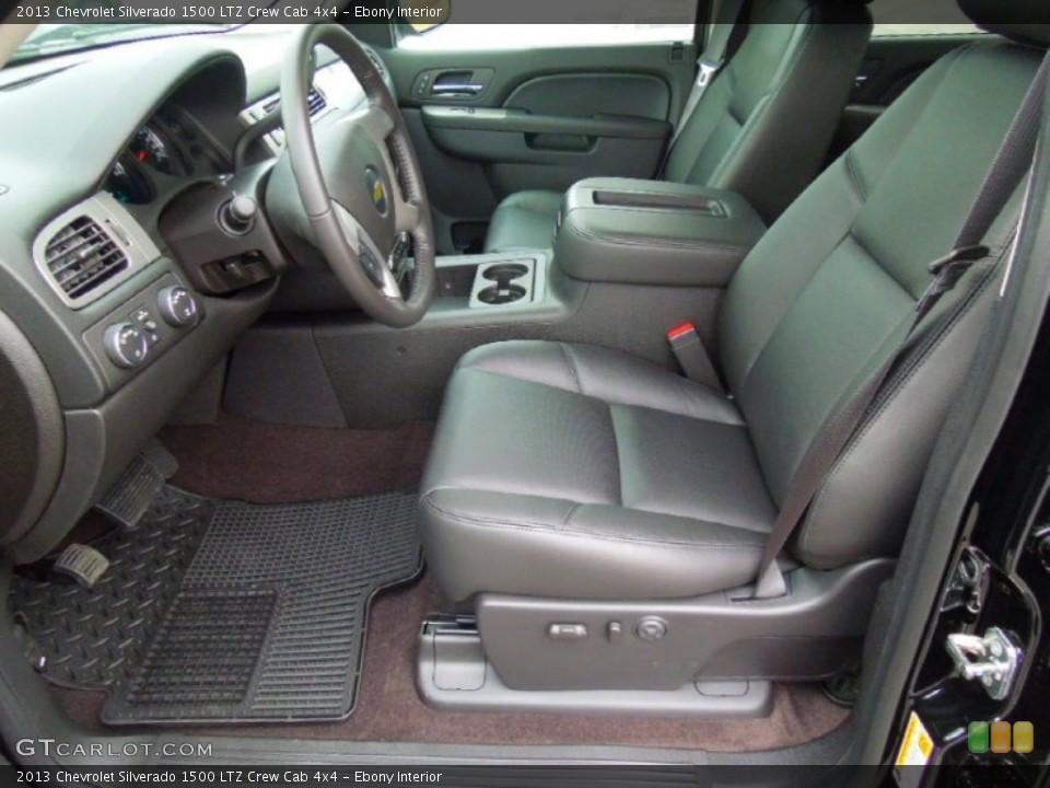 Ebony Interior Photo for the 2013 Chevrolet Silverado 1500 LTZ Crew Cab 4x4 #76575314