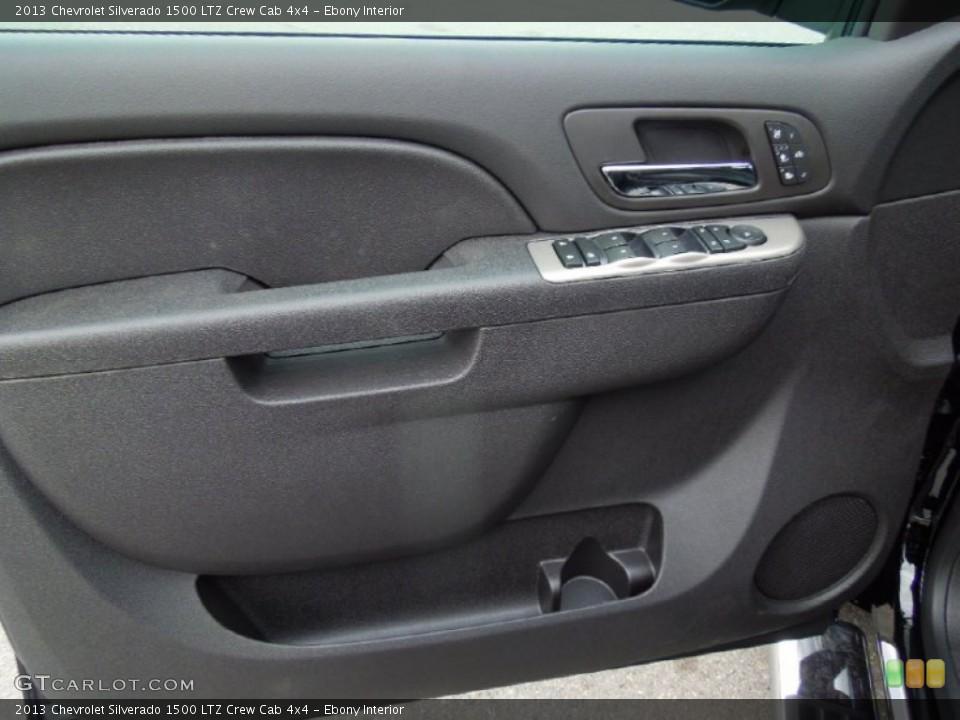 Ebony Interior Door Panel for the 2013 Chevrolet Silverado 1500 LTZ Crew Cab 4x4 #76575391