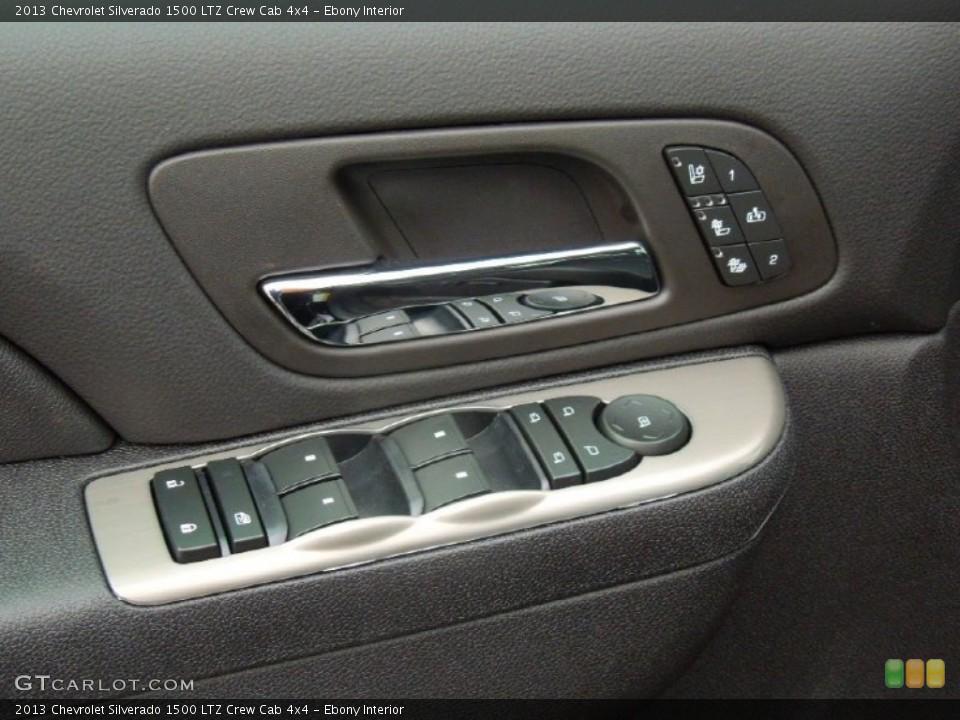 Ebony Interior Controls for the 2013 Chevrolet Silverado 1500 LTZ Crew Cab 4x4 #76575425