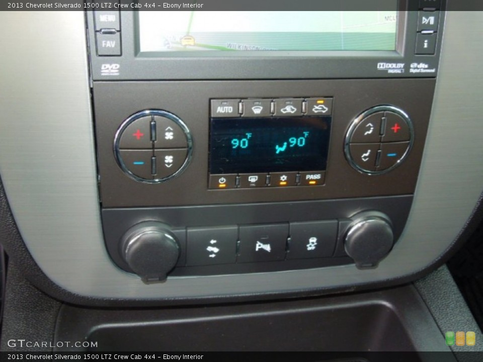 Ebony Interior Controls for the 2013 Chevrolet Silverado 1500 LTZ Crew Cab 4x4 #76575448