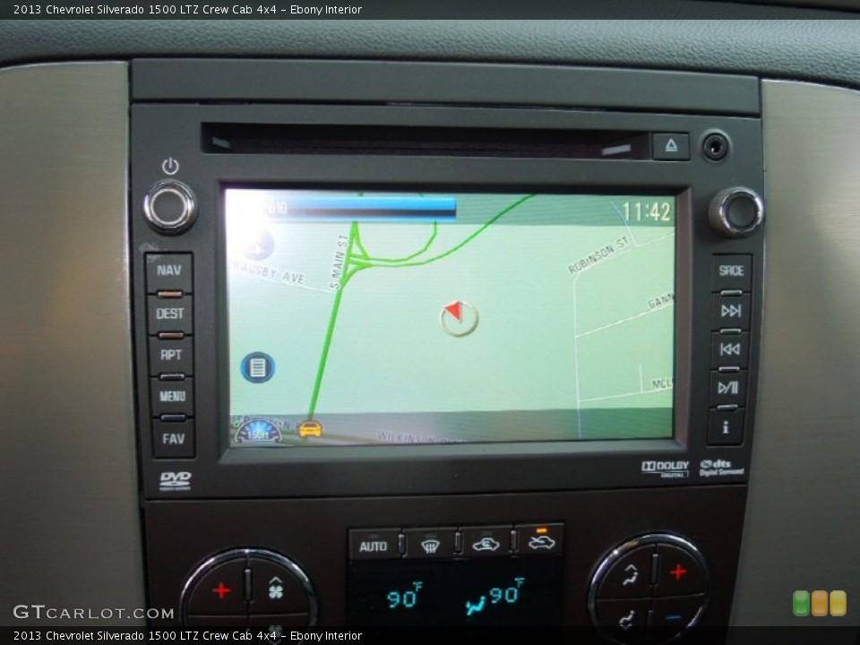 Ebony Interior Navigation for the 2013 Chevrolet Silverado 1500 LTZ Crew Cab 4x4 #76575468