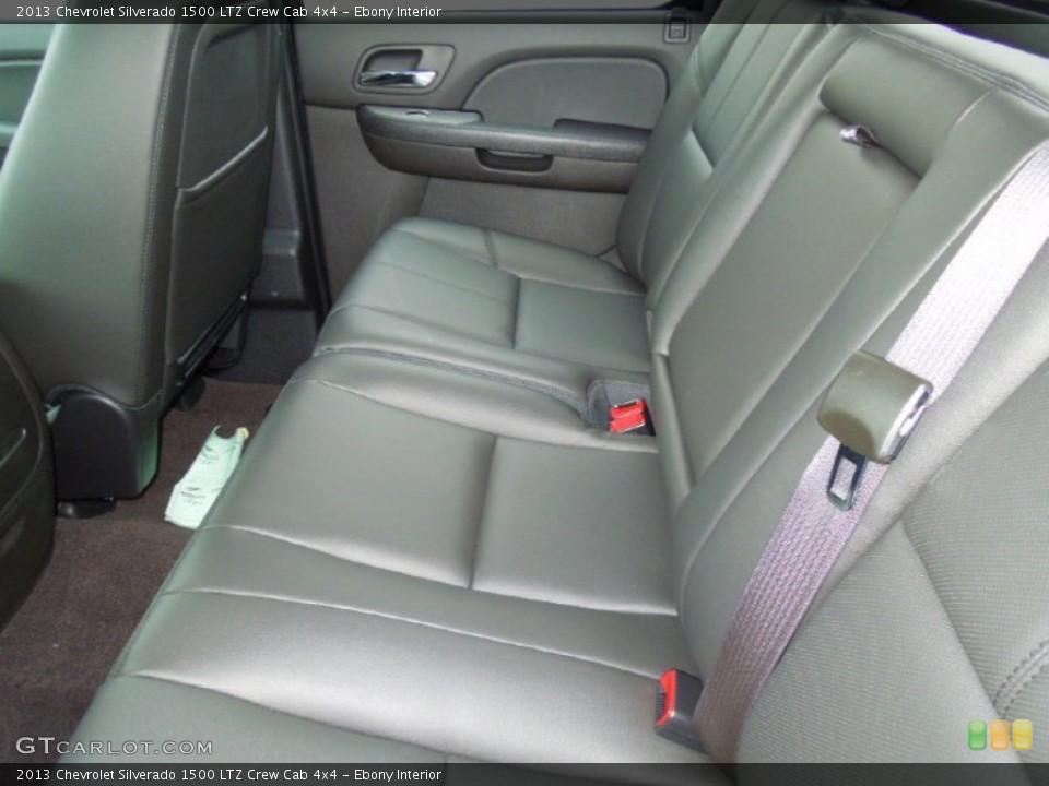 Ebony Interior Rear Seat for the 2013 Chevrolet Silverado 1500 LTZ Crew Cab 4x4 #76575559