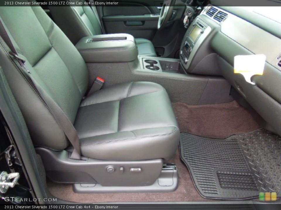 Ebony Interior Front Seat for the 2013 Chevrolet Silverado 1500 LTZ Crew Cab 4x4 #76575602