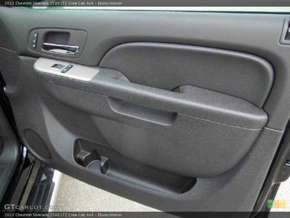 Ebony Interior Door Panel for the 2013 Chevrolet Silverado 1500 LTZ Crew Cab 4x4 #76575627