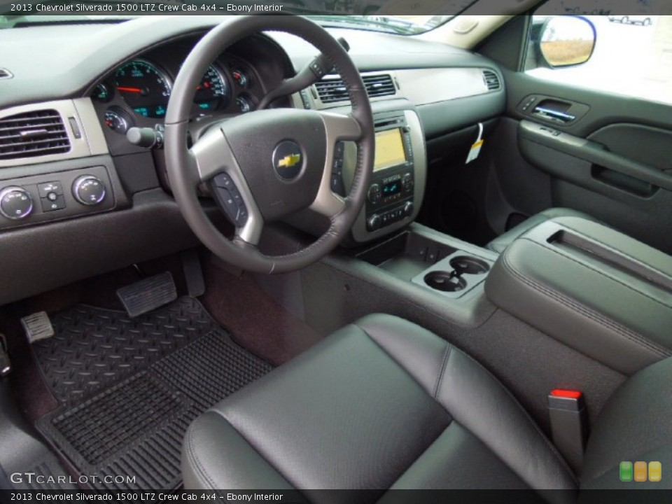 Ebony Interior Prime Interior for the 2013 Chevrolet Silverado 1500 LTZ Crew Cab 4x4 #76575691