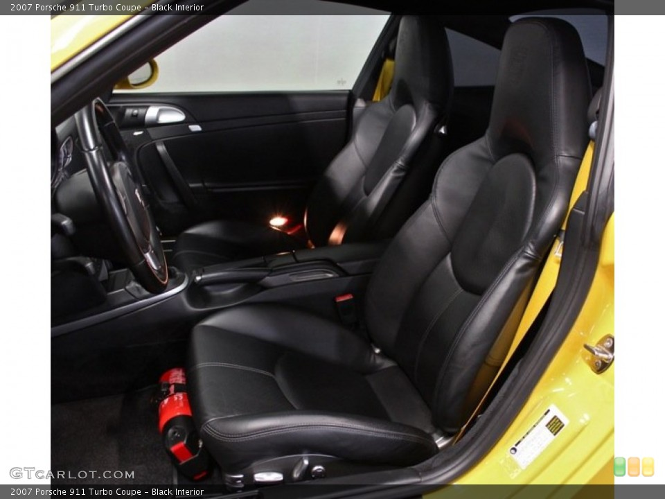 Black Interior Front Seat for the 2007 Porsche 911 Turbo Coupe #76604941