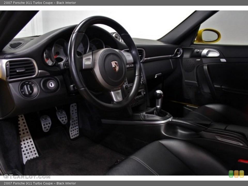 Black Interior Prime Interior for the 2007 Porsche 911 Turbo Coupe #76605094