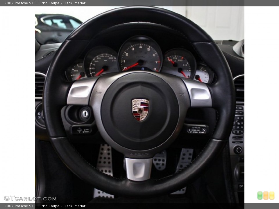 Black Interior Steering Wheel for the 2007 Porsche 911 Turbo Coupe #76605129