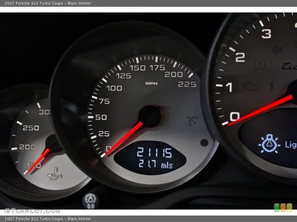 Black Interior Gauges for the 2007 Porsche 911 Turbo Coupe #76605200