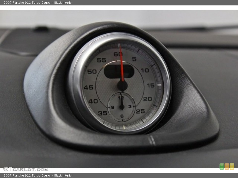 Black Interior Gauges for the 2007 Porsche 911 Turbo Coupe #76605238