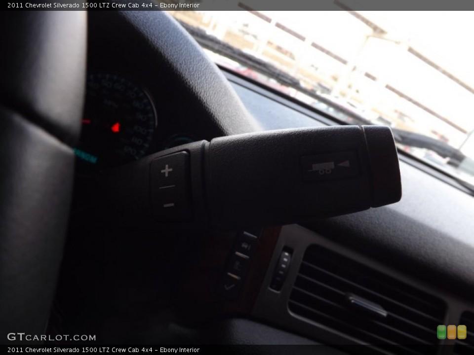 Ebony Interior Controls for the 2011 Chevrolet Silverado 1500 LTZ Crew Cab 4x4 #76623217