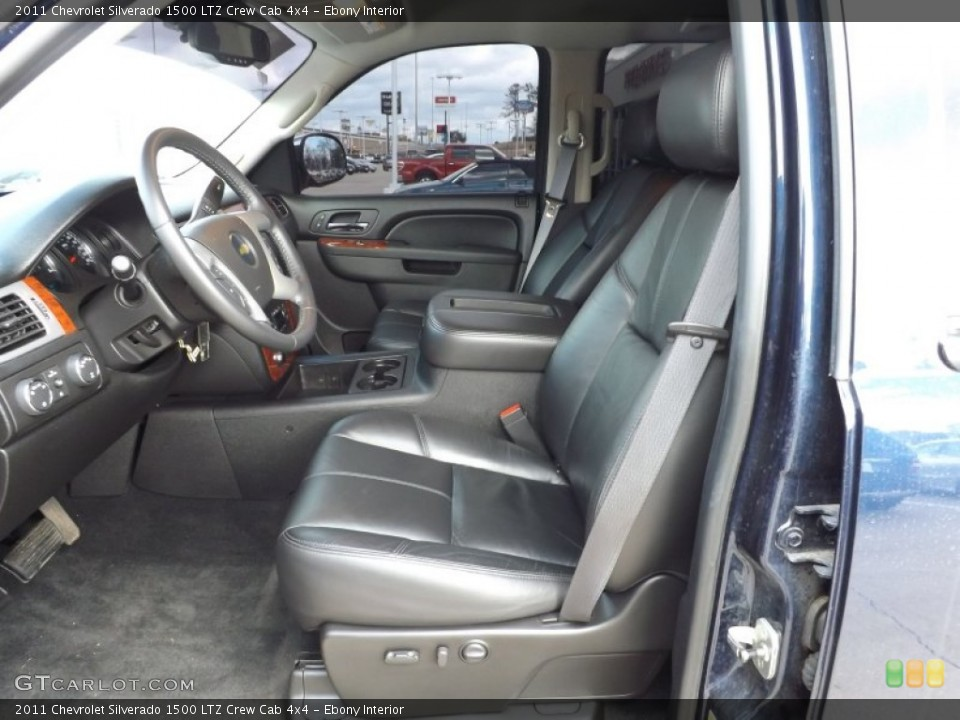 Ebony Interior Front Seat for the 2011 Chevrolet Silverado 1500 LTZ Crew Cab 4x4 #76623238