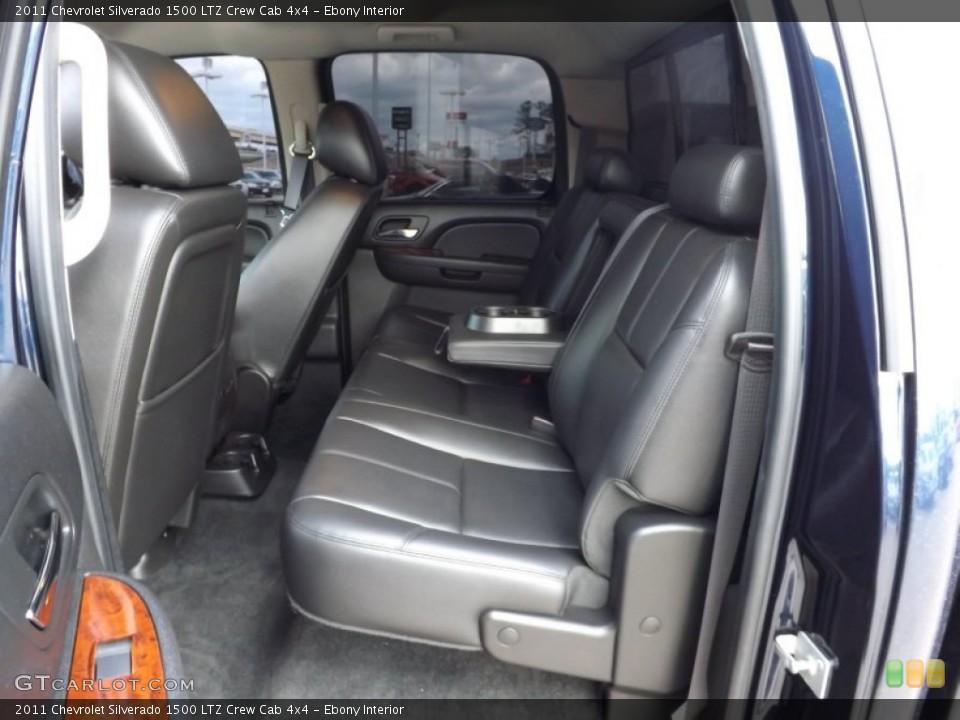 Ebony Interior Rear Seat for the 2011 Chevrolet Silverado 1500 LTZ Crew Cab 4x4 #76623244