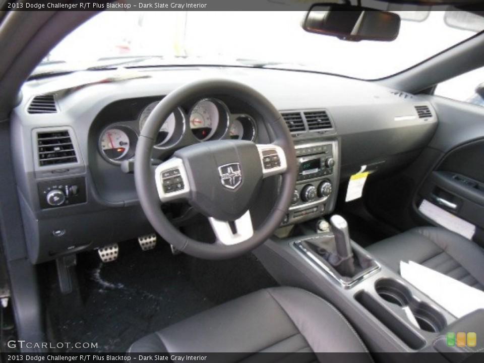 Dark Slate Gray Interior Prime Interior for the 2013 Dodge Challenger R/T Plus Blacktop #76725476