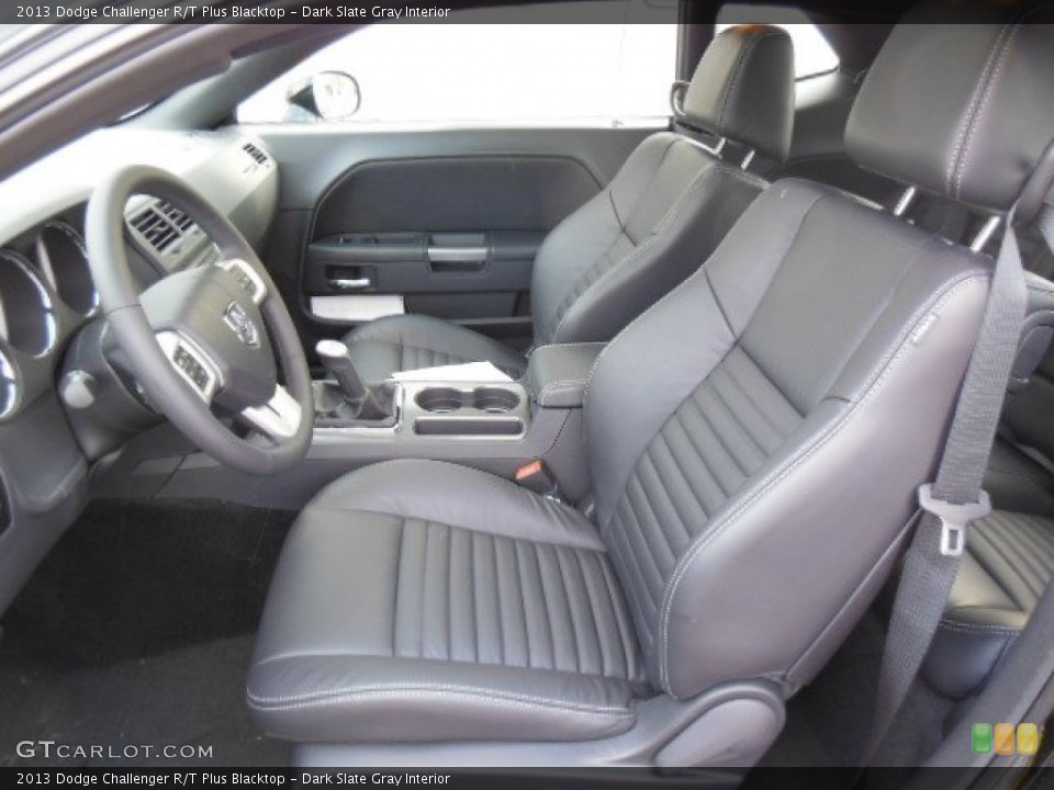 Dark Slate Gray Interior Front Seat for the 2013 Dodge Challenger R/T Plus Blacktop #76725496