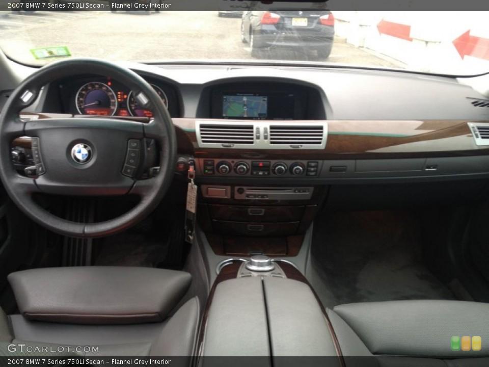 Flannel Grey Interior Dashboard For The 2007 BMW 7 Series 750Li Sedan 76839399