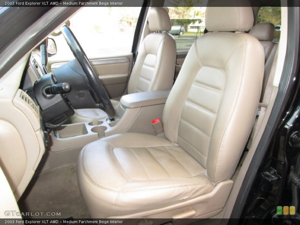 Medium Parchment Beige Interior Front Seat for the 2003 Ford Explorer XLT AWD #76912095