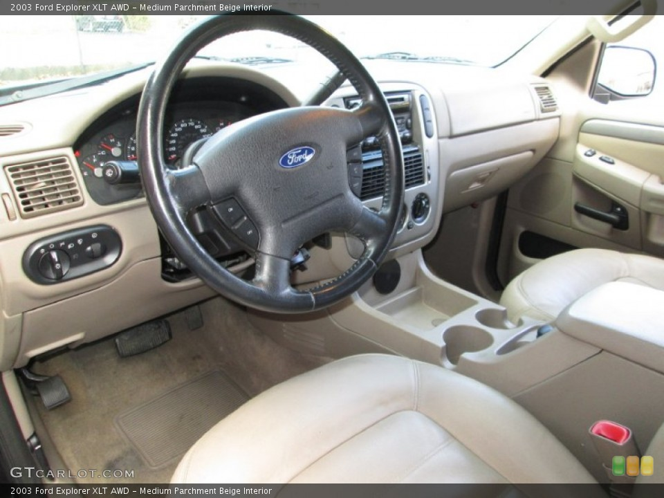Medium Parchment Beige Interior Prime Interior for the 2003 Ford Explorer XLT AWD #76912149