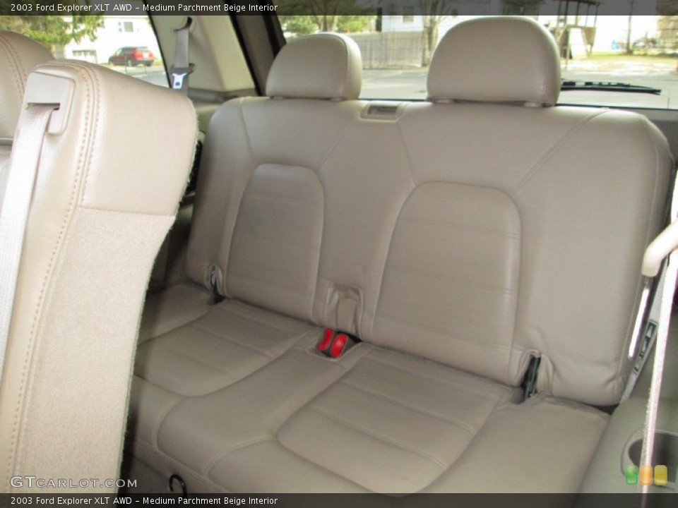 Medium Parchment Beige Interior Rear Seat for the 2003 Ford Explorer XLT AWD #76912242