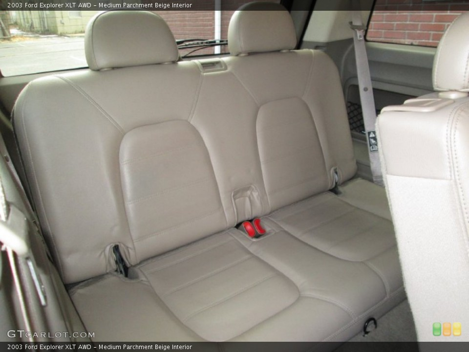 Medium Parchment Beige Interior Rear Seat for the 2003 Ford Explorer XLT AWD #76912269
