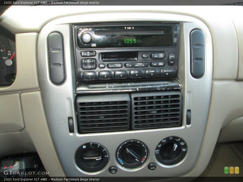 Medium Parchment Beige Interior Controls for the 2003 Ford Explorer XLT AWD #76912290