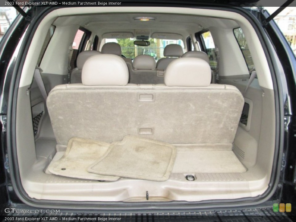 Medium Parchment Beige Interior Trunk for the 2003 Ford Explorer XLT AWD #76912383