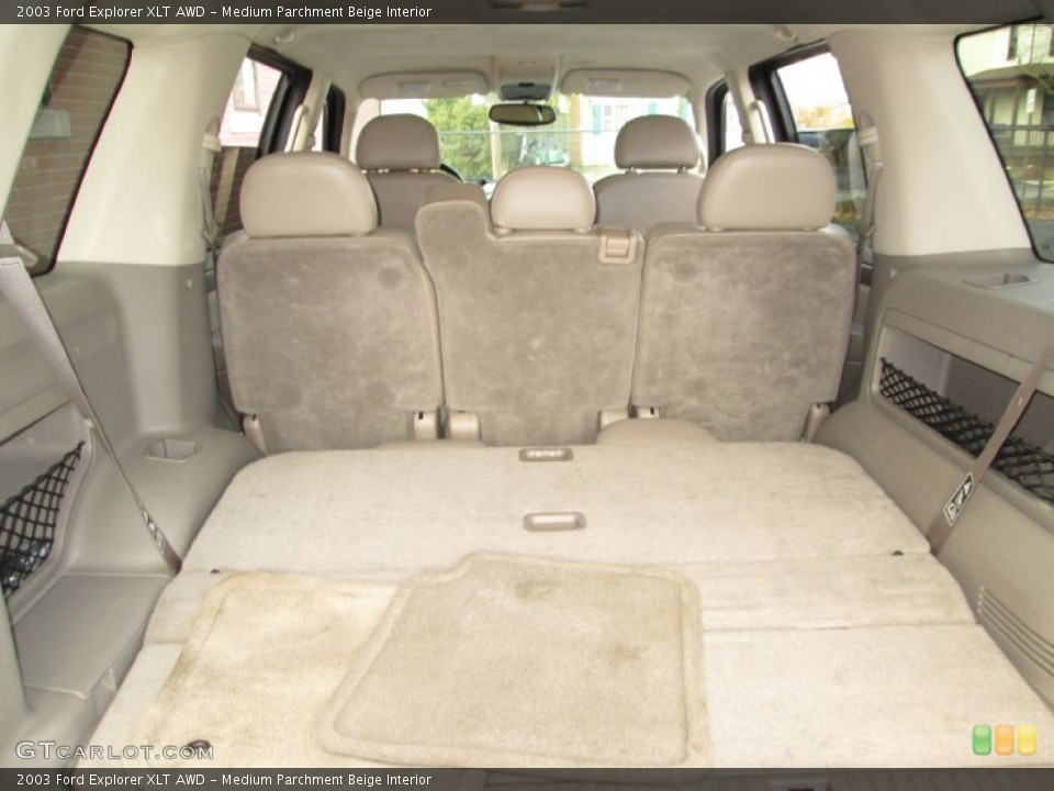 Medium Parchment Beige Interior Trunk for the 2003 Ford Explorer XLT AWD #76912404