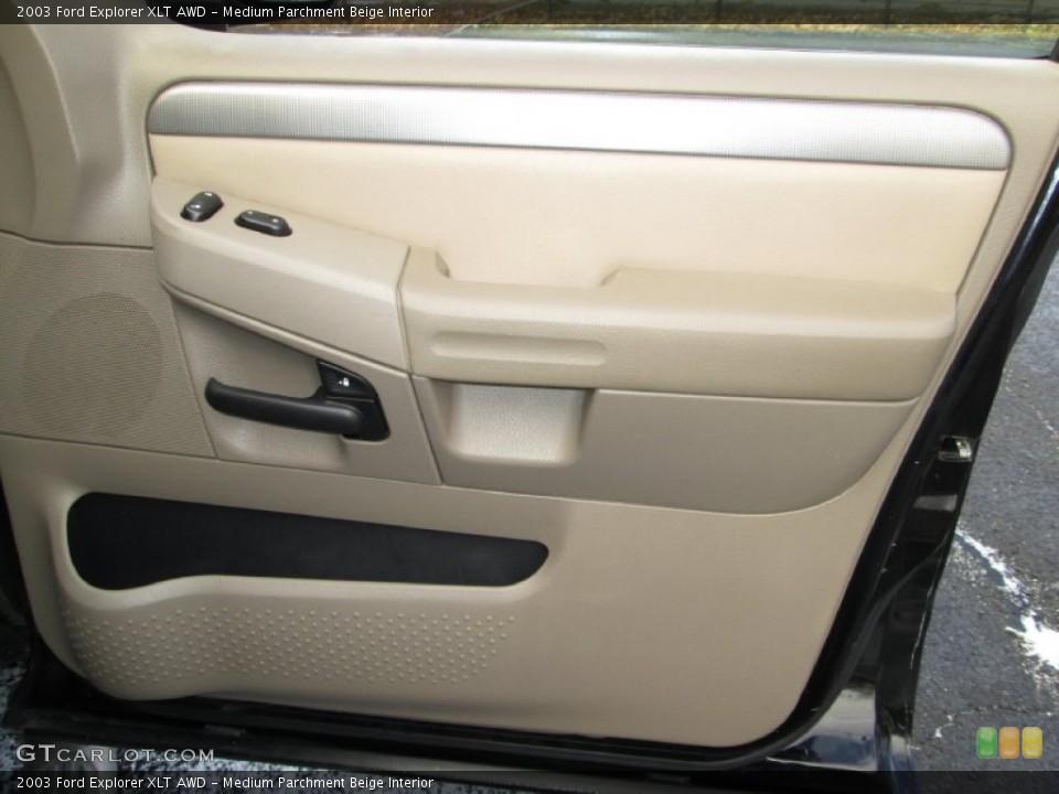 Medium Parchment Beige Interior Door Panel for the 2003 Ford Explorer XLT AWD #76912452