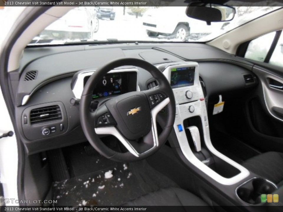 Jet Black/Ceramic White Accents 2013 Chevrolet Volt Interiors