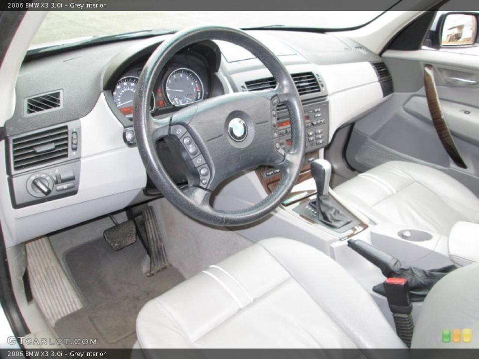 Grey Interior Prime Interior for the 2006 BMW X3 3.0i #76976938