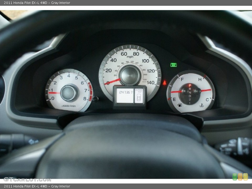 Gray Interior Gauges for the 2011 Honda Pilot EX-L 4WD #76993425