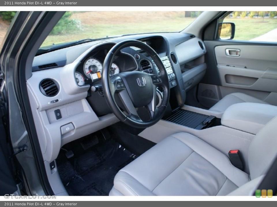 Gray Interior Prime Interior for the 2011 Honda Pilot EX-L 4WD #76993497