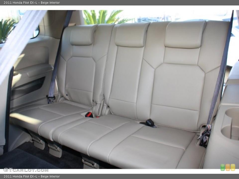 Beige Interior Rear Seat for the 2011 Honda Pilot EX-L #76998323