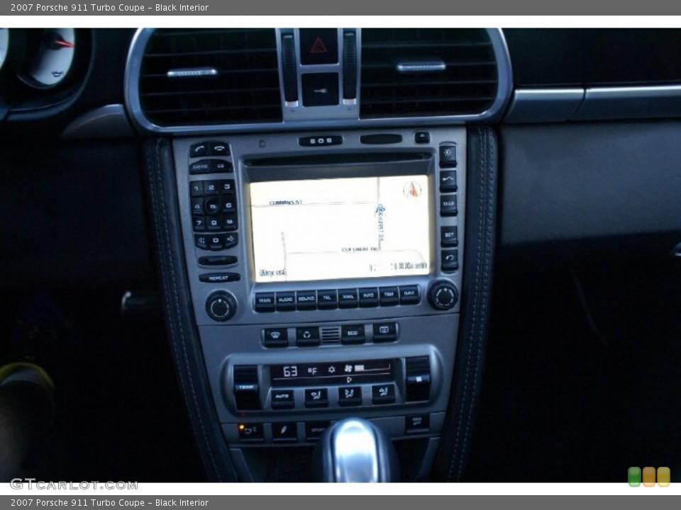 Black Interior Navigation for the 2007 Porsche 911 Turbo Coupe #77013099