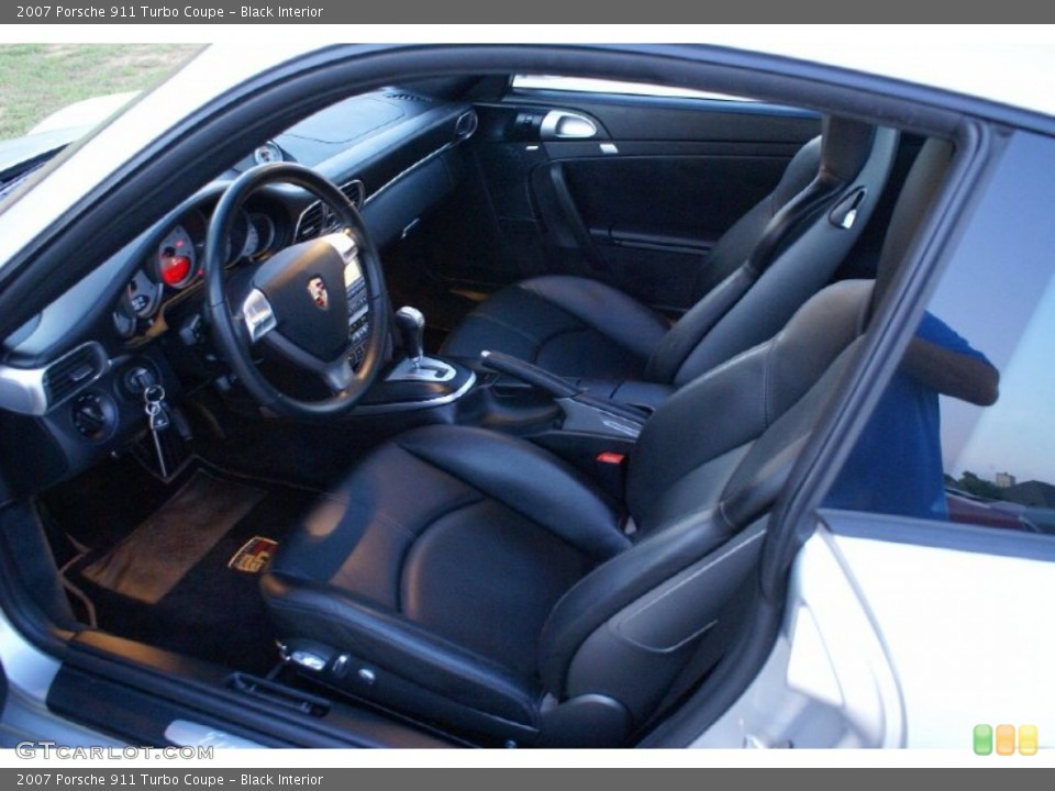 Black Interior Photo for the 2007 Porsche 911 Turbo Coupe #77013257