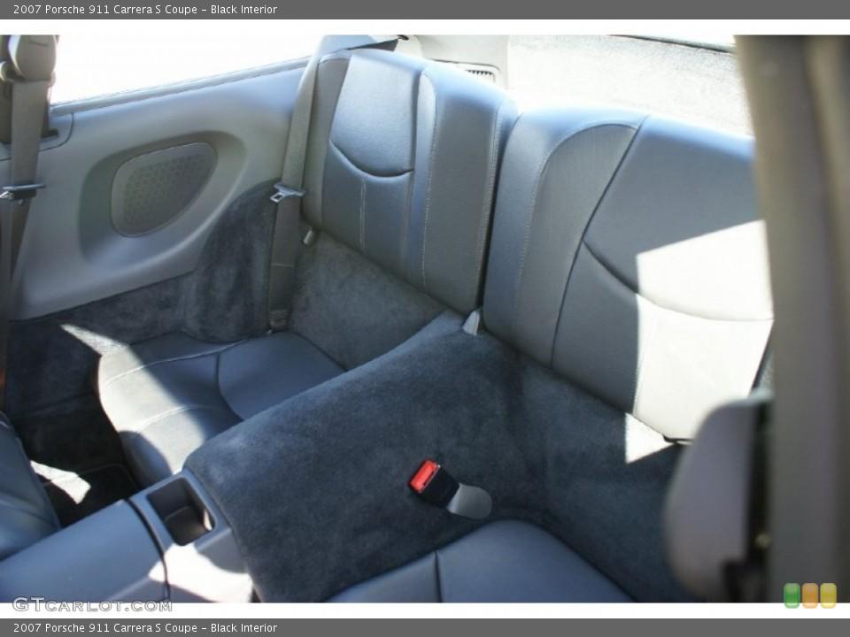 Black Interior Rear Seat for the 2007 Porsche 911 Carrera S Coupe #77016675