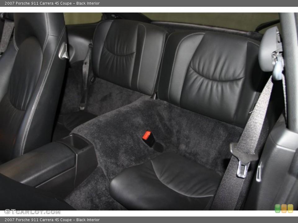 Black Interior Rear Seat for the 2007 Porsche 911 Carrera 4S Coupe #77024715