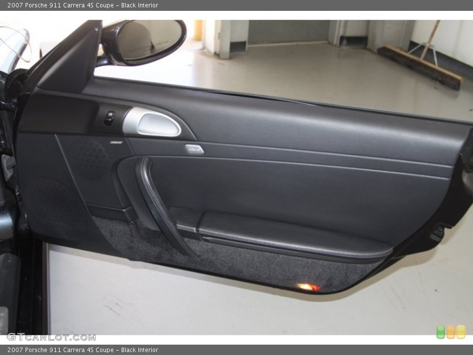 Black Interior Door Panel for the 2007 Porsche 911 Carrera 4S Coupe #77025096