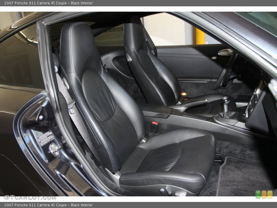 Black Interior Front Seat for the 2007 Porsche 911 Carrera 4S Coupe #77025160