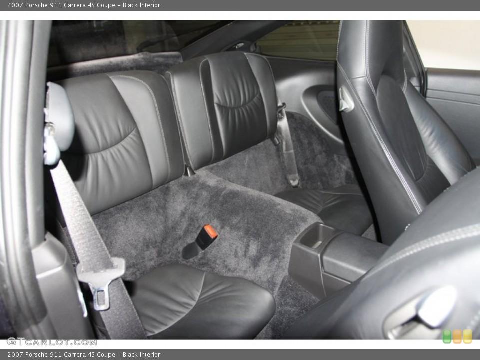 Black Interior Rear Seat for the 2007 Porsche 911 Carrera 4S Coupe #77025183