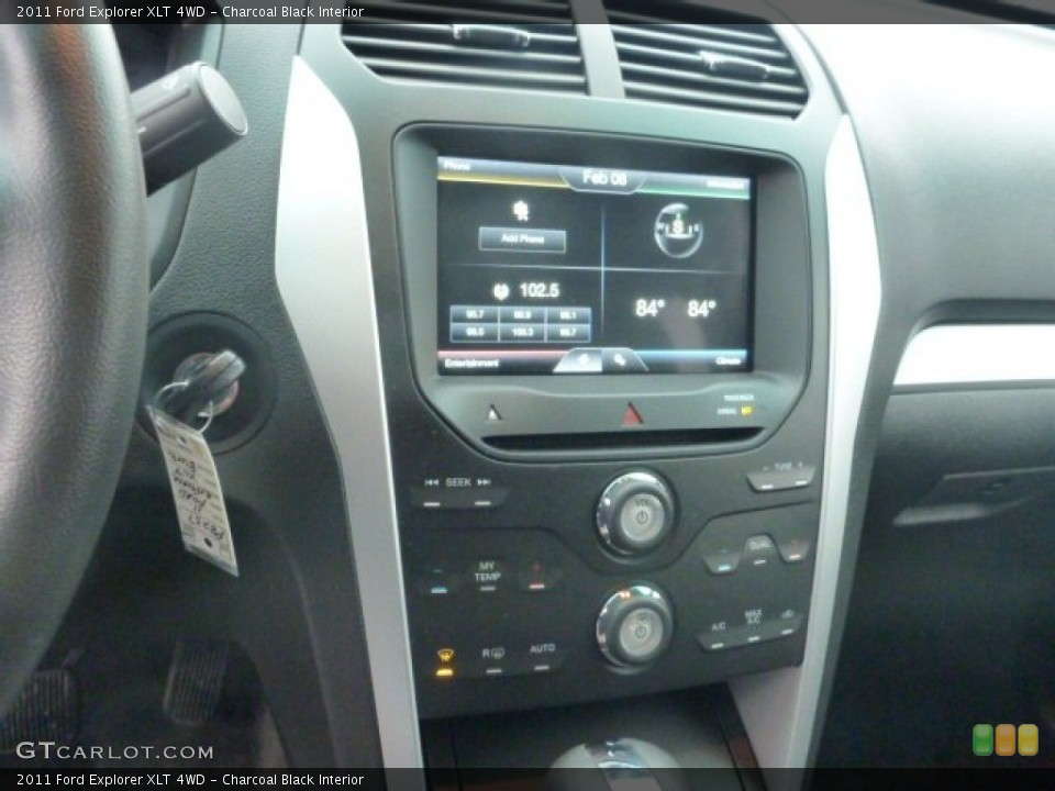 Charcoal Black Interior Controls for the 2011 Ford Explorer XLT 4WD #77036753
